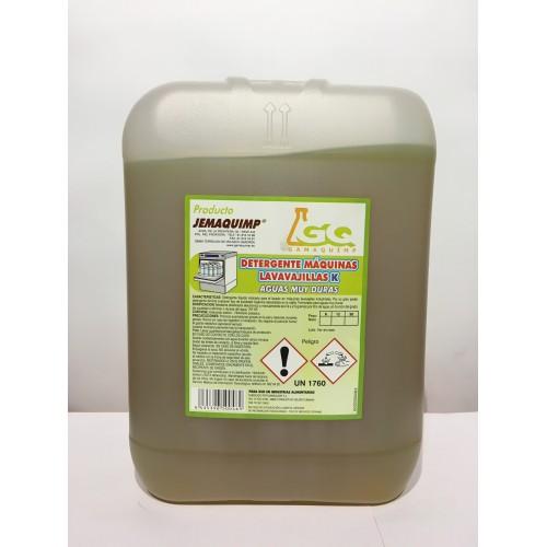 JEMAQUIMP - Detergente Máquinas Lavavajillas - ADK (Aguas Muy Duras)