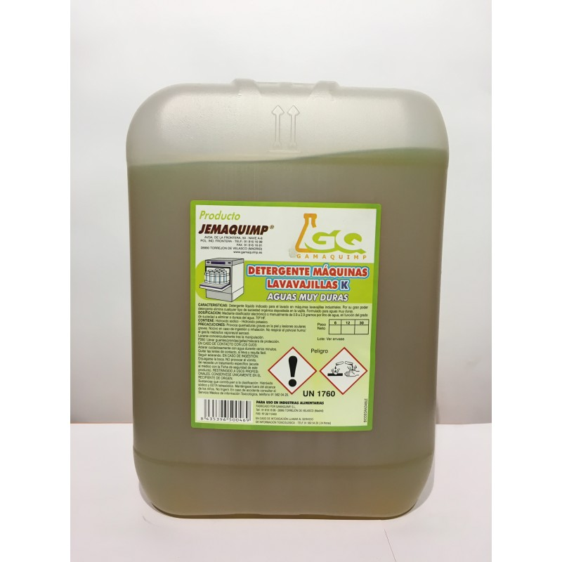Detergente Mquinas Lavavajillas - ADK (Aguas Muy Duras)