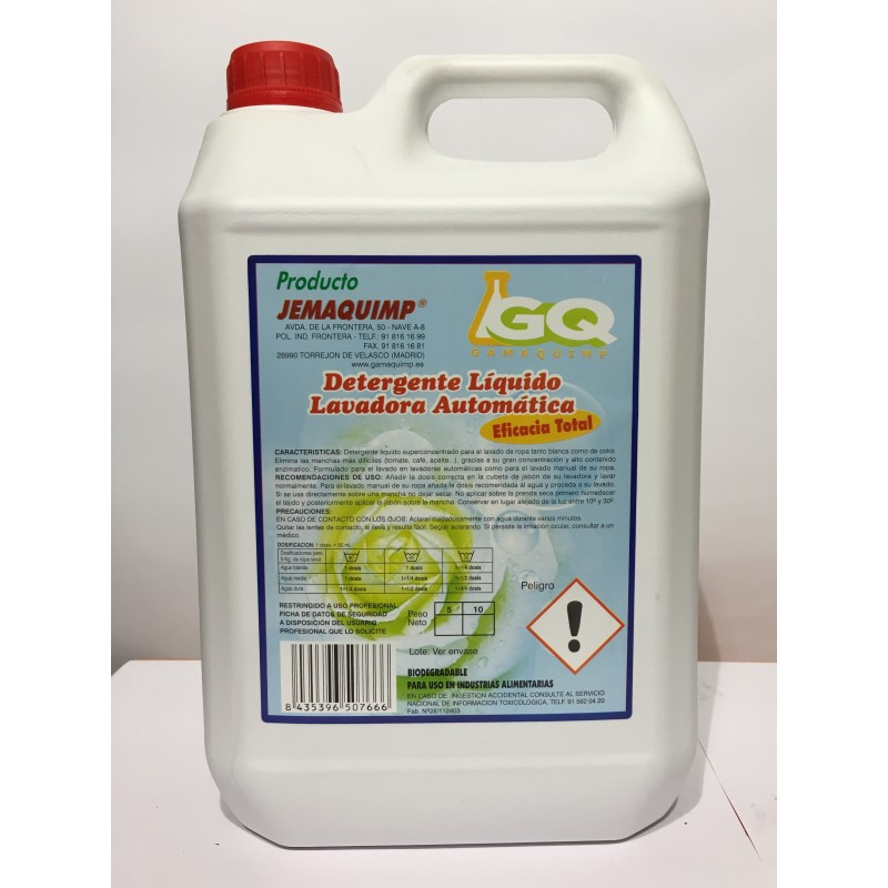 Detergente Liquido Lavadora Automatica