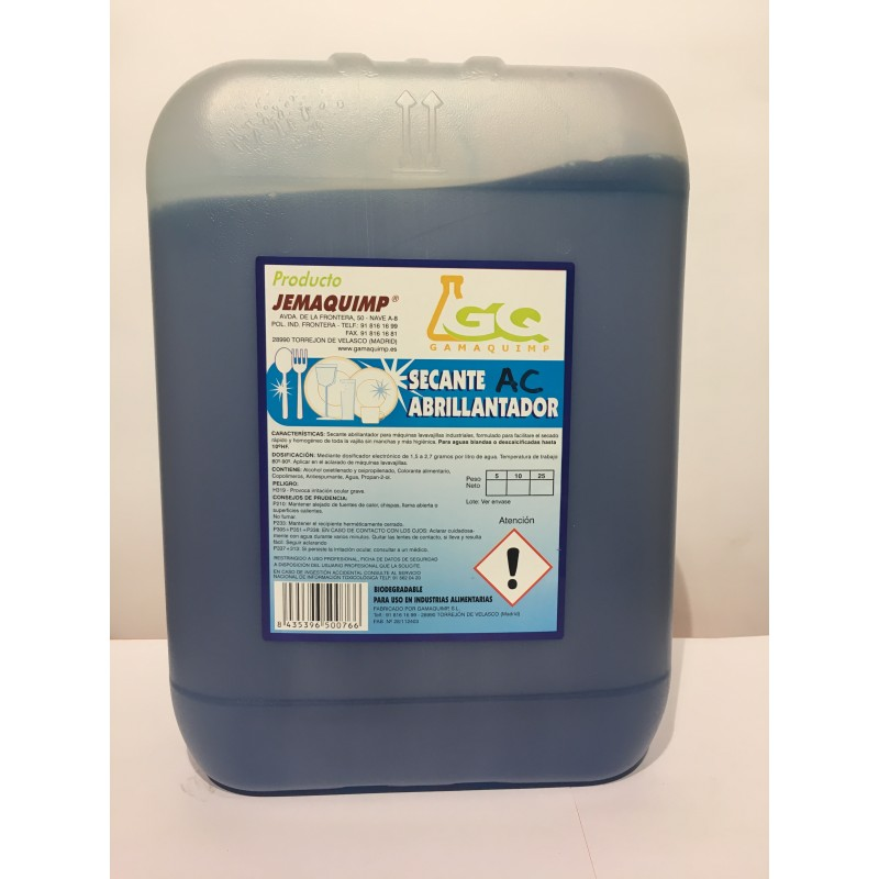 Secante Abrillantador - AC (Aguas Semiduras)